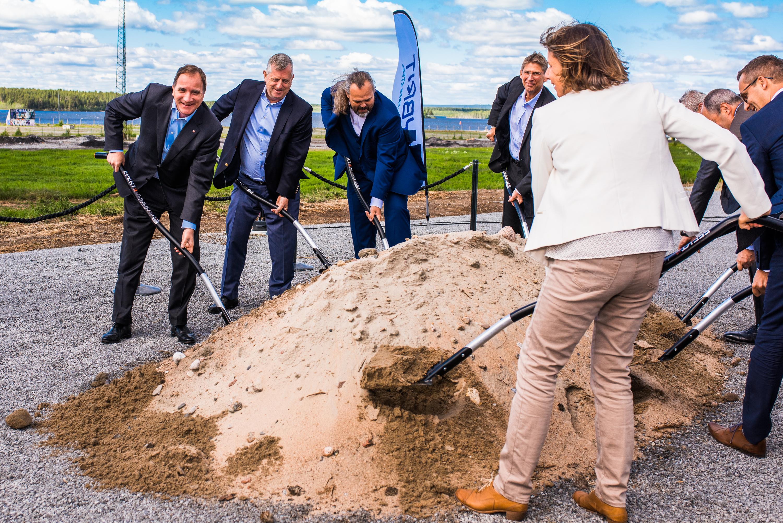 Invigning Hybrit, SSAB Luleå med bl a  Stefan Löven