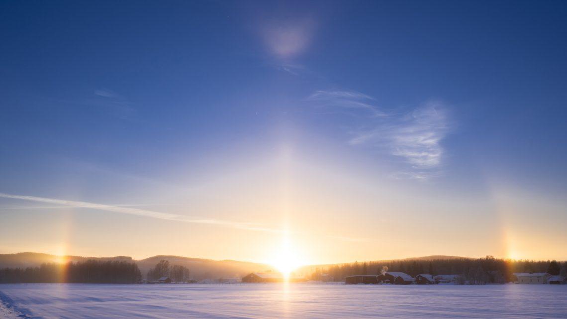 Soluppgång i Älvsbyn