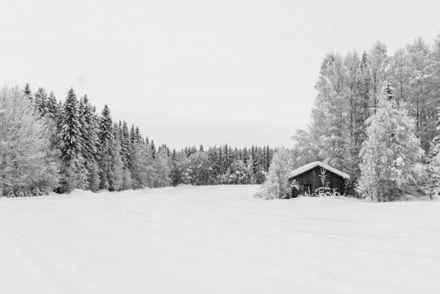 Sävast i vinterskrud, vackert även nu!