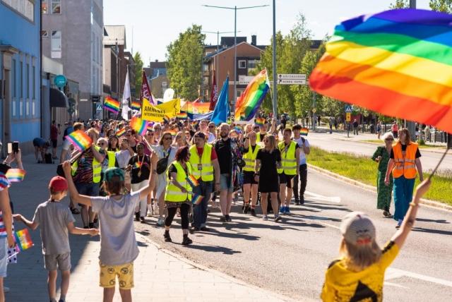 Luleå Pride 2019 i underbart väder.