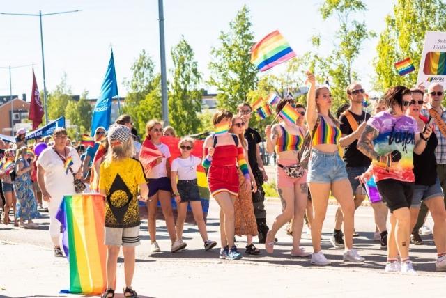 Luleå Pride 2019 i underbart väder. Alla åldrar var på plats!