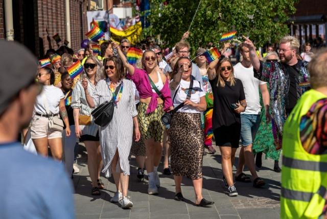 Luleå Pride 2019. Det var ett massivt tåg även i år!