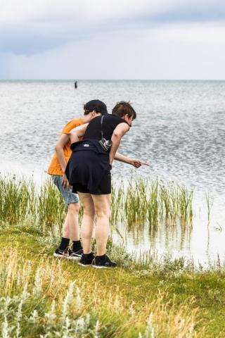 Det fanns mycket att upptäcka längs stranden!