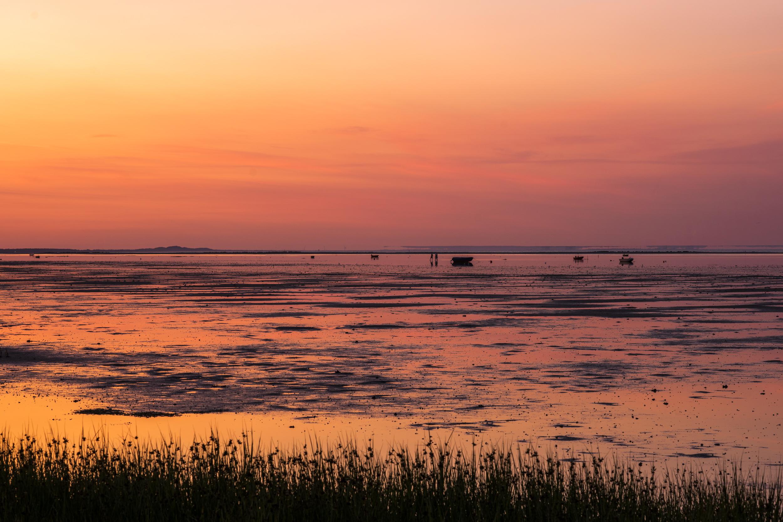 Jo, en solnedgång till! Alltid människor ute på stranden. Als Udde, eller Als Odde som det egentligen heter.