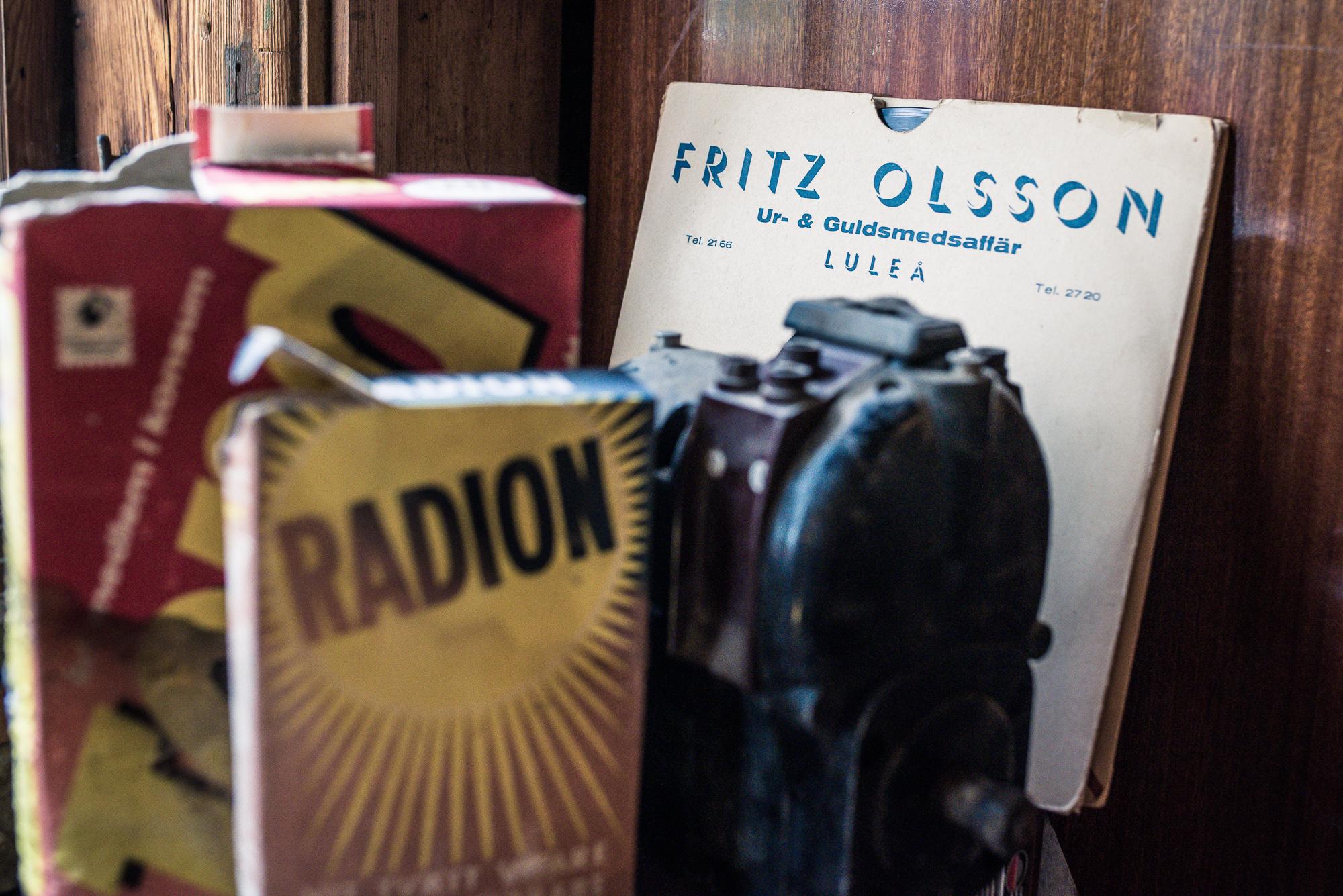 Fritz Olsson, rivet och borta, men minnena finns kvar. Och en del skivor! Patinamuseet.
