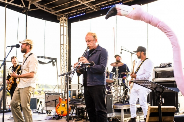 Johan Airijoki och Malmfältens Rockklubb gästade Musikens Makt 2019. Och dessa flamingos...