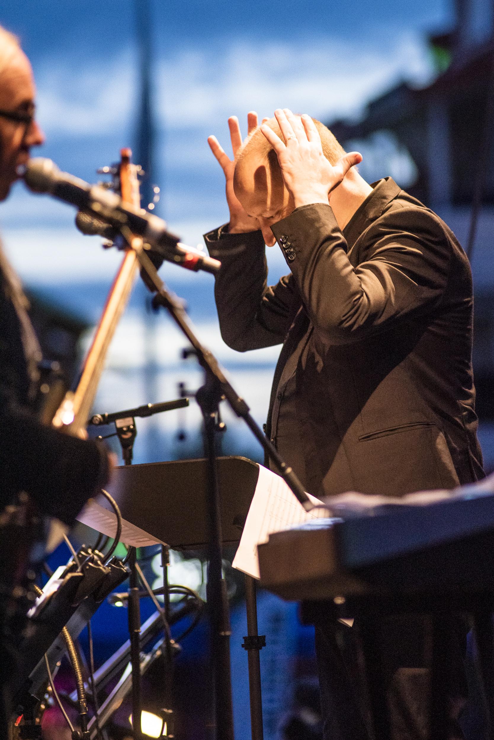 Ångest? Stefan Gunnarsson och Norrbotten Big Band på Kulturnatta i Boden 2019.