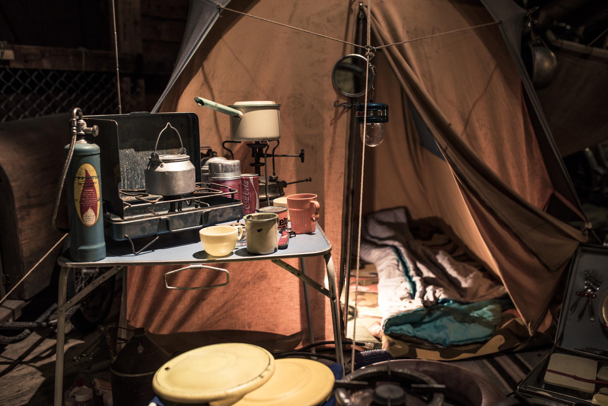 Ett sånt här tält hade vi ju....