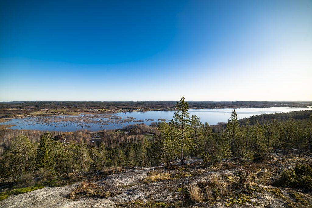 Vidunderlig utsikt från Öngårdsberget utanför Boden.