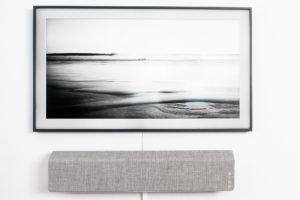 Vifa Stockholm och Samsung Frame.