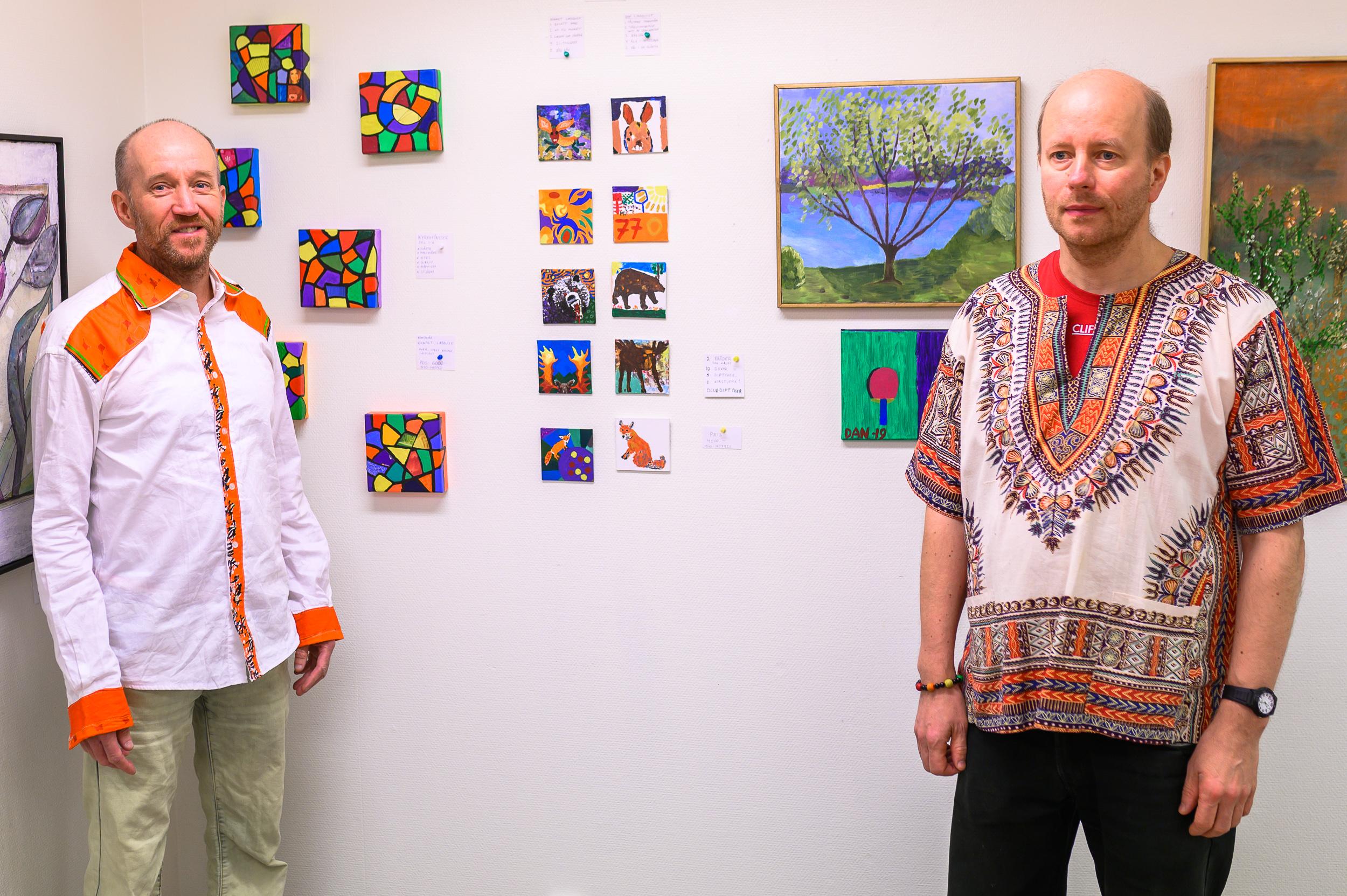 Kennet Lindquist och Dan Lindquist var några av konstnärerna som ställde ut i Arvidsjaur.