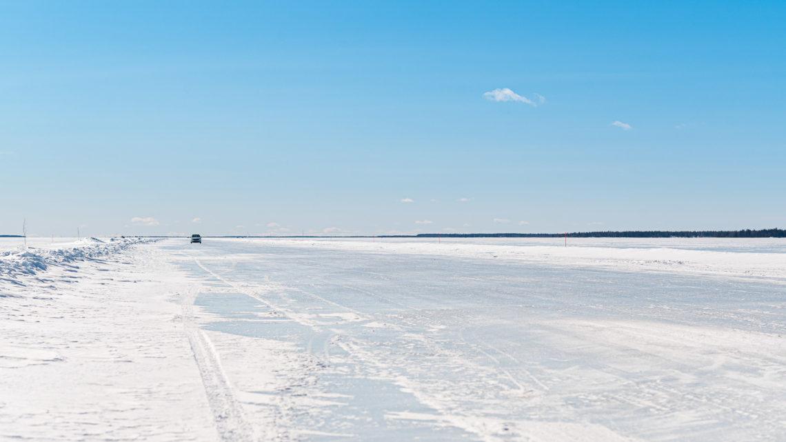 Isvägen mot Hindersön