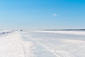 Isvägen mot Hindersön.
