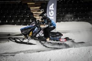 100 Ronja Revelj, Team Walles MK, Polaris Team Sweden Skotercross. Boden Arena Super-X 2018.