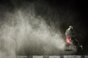 10 Anton Dahlqvist, Infjärdens RSK. Team E-son Maskin AB. Lynx.Skotercross. Boden Arena Super-X 2018.
