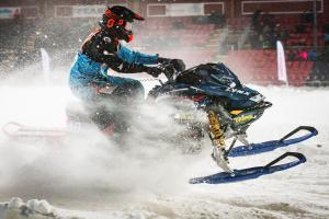 48 Filip Harr, Gargnäs MK. Lynx Skotercross. Boden Arena Super-X 2018.