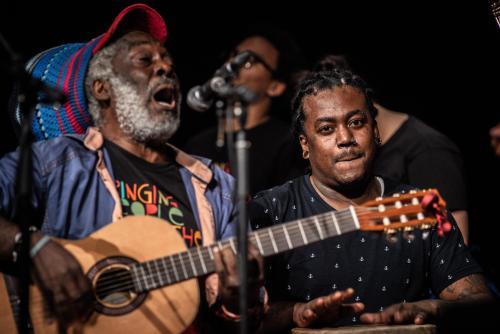 Woulele Marcelin och Sanba Zao. Singing people together på Saga i Boden.