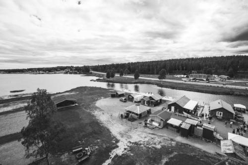 Utsikt från fyren i Jävre.