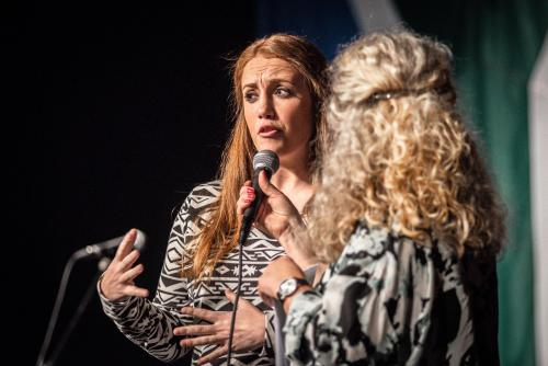 Christine Bam. Singing people together på Saga i Boden.
