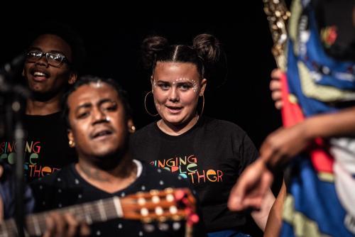 Woulele Marcelin. Singing people together på Saga i Boden.