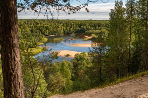 Fin utsikt om man tar en promenad från Fällfors camping till Marranäsvältan.