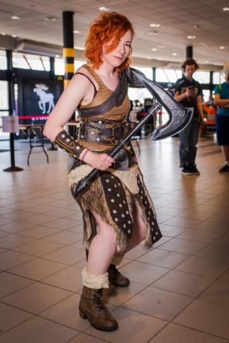 Cosplayer. Nordsken 2018. She in Dovahkiin: Dragonborn. -Thanx Tarotikum.