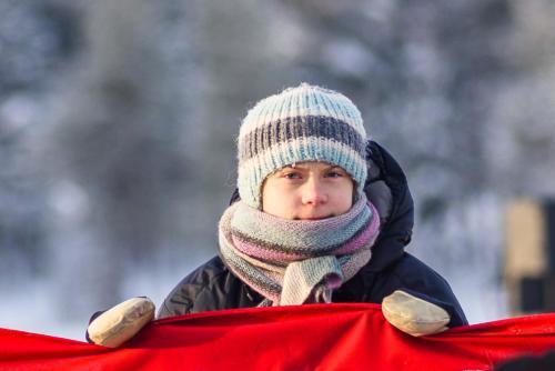 Greta Thunberg. Jokkmokks marknad 2020.