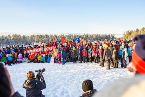 Ungdomar som kämpar för klimatet! Jokkmokks marknad 2020.