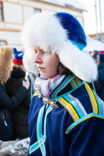 Renrajden. Jokkmokks marknad 2020.