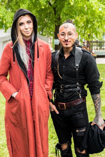Ja, vad säger man? Coolt är det ju definitivt! Luleå Pride 2018.