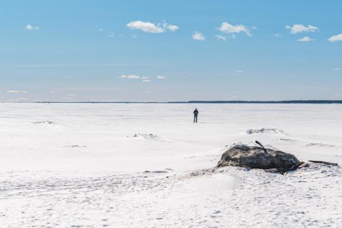 Social distansiering är enkelt om man vill, och bor i Norrbotten.